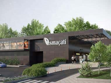 Commercial Center 3d Visualization