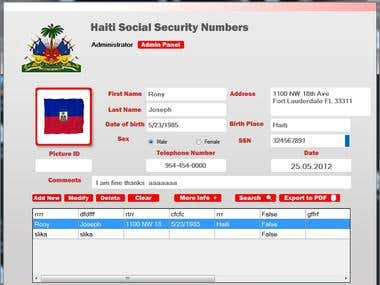 Social Security Desktop application