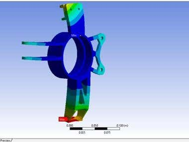 Finite Element Analysis of a Wheel Knuckle