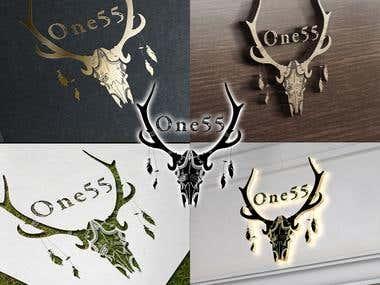One55 Boho Hostel Logo Creation