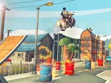 Tricky Bike Stunt Game (Unity 3D + Development + Designing )