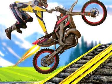 Moto Bike Stunts Game Designing +Icon + Screen Shorts done