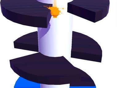 HELIX JUMPER GAME (UI + ICON DESIGNING + GAME DEVELOPMENT)