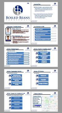 Corporate Profile Presentation Deck Design