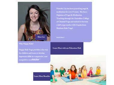 Children Yoga Wix Website