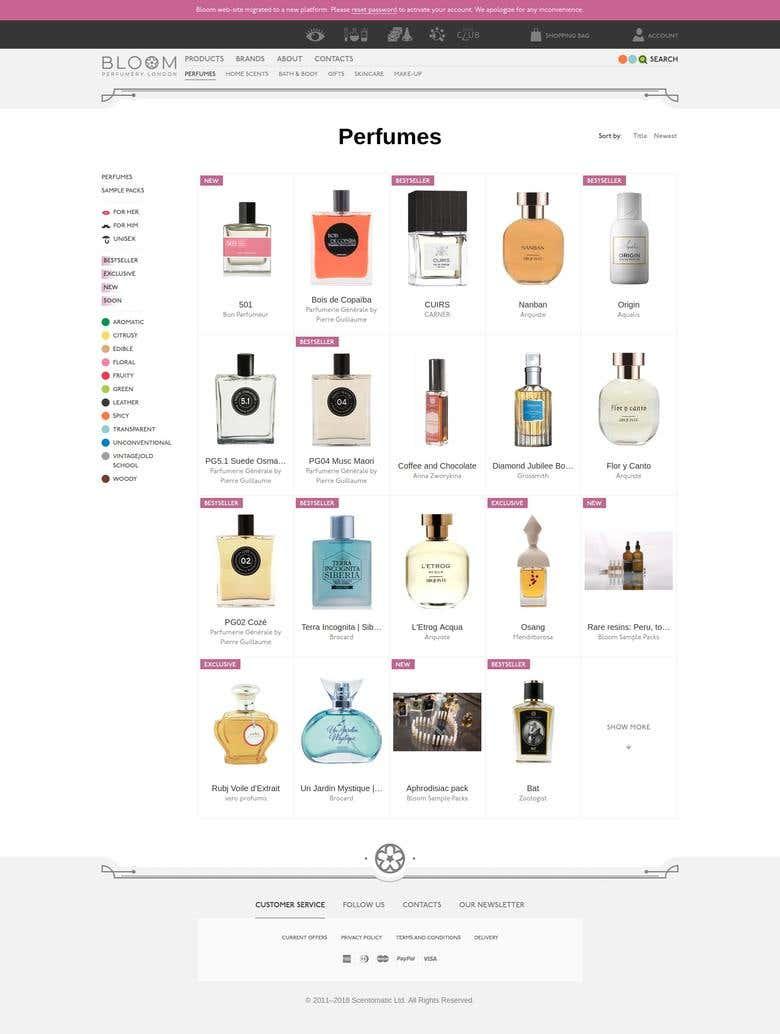 Bloom Perfumery   Freelancer