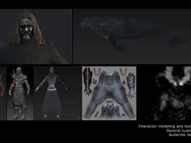 Model character 3d