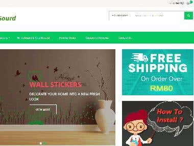 Wall Stickers eCommerce Website