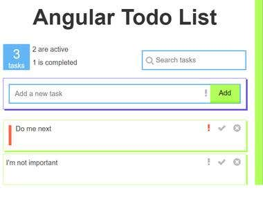 TO DO LIST USING ANGULAR
