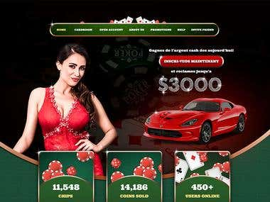 Online Casino Website Landing Page