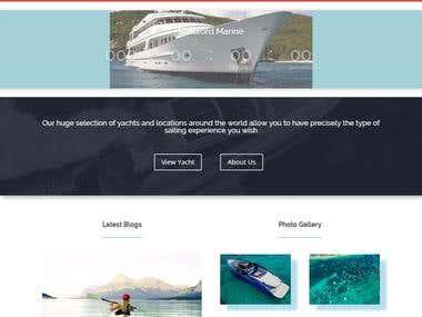 Yacht Sailing design
