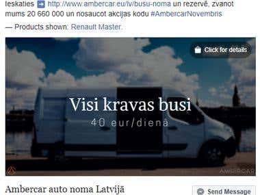 Sale & Facebook marketing