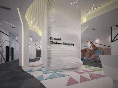 Children hospital interiors