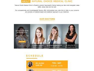 Medical PSD website template