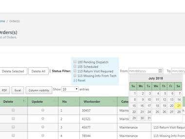 See our Admin Dashboard with range of Filter, Search, Tables