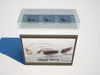 Design and make a Mock-up for Miumiu Company