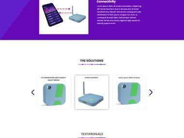 Wifi Router Website design