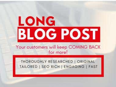 Long Length Blog Post