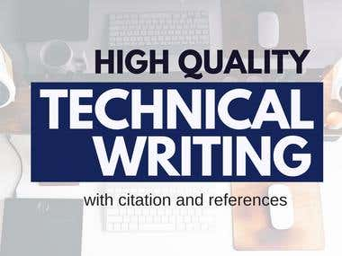 High Quality Technical Writing