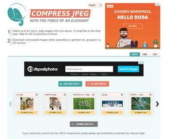Image Compression and convert using Php extension library