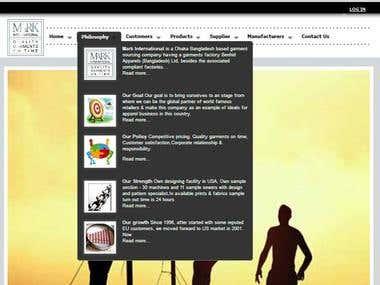 Dynamic Website For Mark International