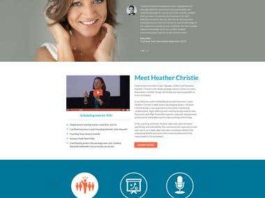 Personal website for a Professional Speaker -
