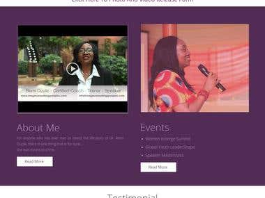 A professional website for a Leadership Coach & Speaker