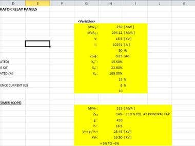 Pdf calculations converted to excel sheet
