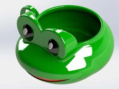 3D Modelling and Rendering Of Frog Cup