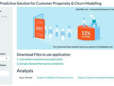 User Churn Prediction Shiny Demo project