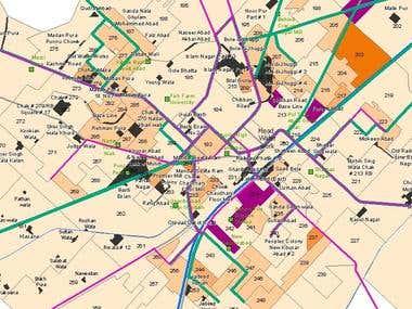 Slum areas GIS mapping