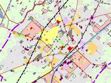 Landuse GIS Maps Development