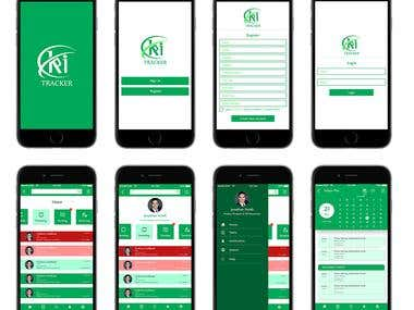 KPI Tracker Mobile Screen Mockup and Logo