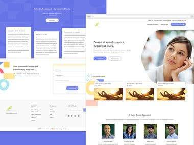 Seraniti - Clinical landing website