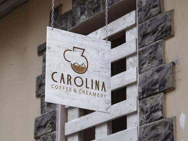 Coffee and creamery logo
