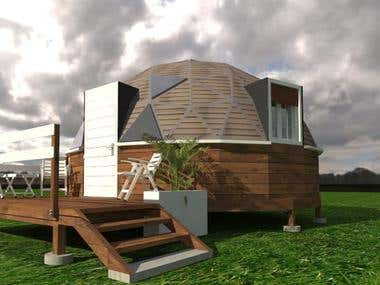 Design and projects for hotels with geodesic domes.