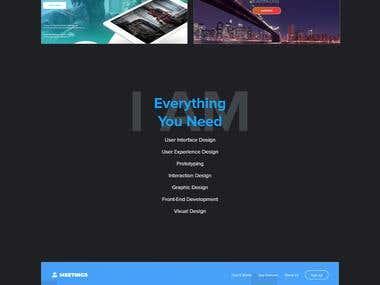 Dark Portfolio | UI/UX Designer & Developer
