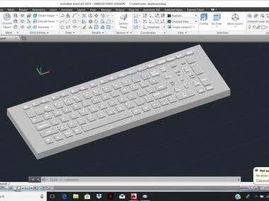 Keyboard design in AutCAD