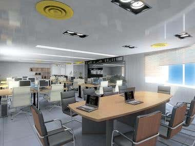 Office Interior Rendering