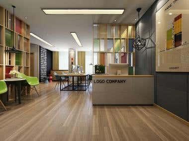 Modern Office Interior Model