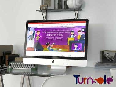 Website Designing and Development for Animation Company