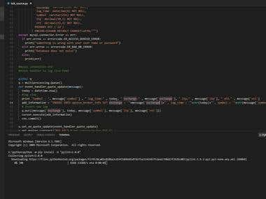 Python code to get live feed from Upstox site