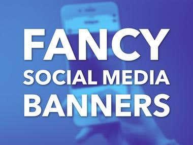 Fancy Social Media Banner