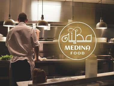 Medina Food Logo design