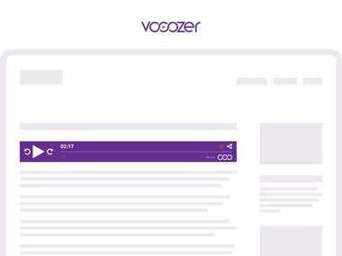 Vooozer posts por áudio