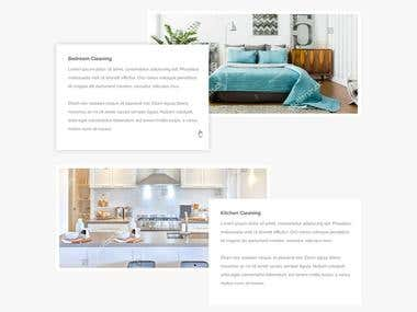 Sparkly & Fresh - Homepage Design