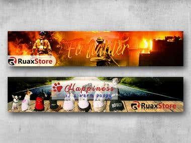 Web banner, Add banner, header