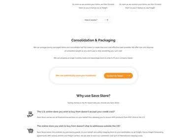Savo Store - Website Concept Design