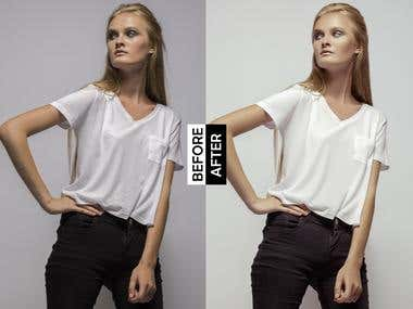 High-end fashion/editorial retouching