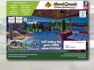 Altered Grounds Landscaping Brochure Design Entry #2